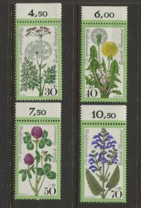 Germany -Scott B542-B545 -General Issue-1977 - MNH - Set of 4 Stamps