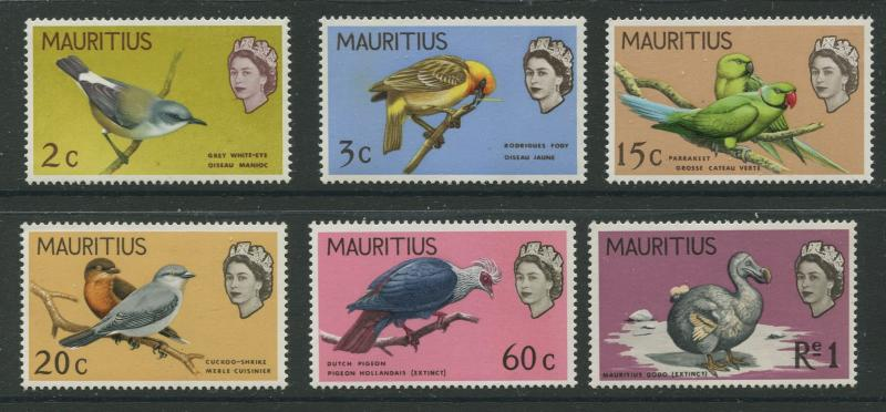 Mauritius - Scott 327-332 - Birds Definitive Issue -1968 - MNH -Set of 6 Stamps