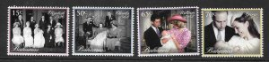 BAHAMAS SG1672/5 2014 ROYAL CHRISTENING MNH