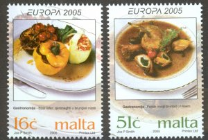 Malta Sc# 1202-1203 MNH 2005 Europa