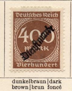 Germany 1923 Early Issue Fine Mint Hinged 400m. Optd 216947