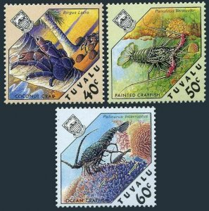 Tuvalu 451-453,MNH.Michel 477-479. Coconut Crab,Painted,Ocean Grayfish.1987.