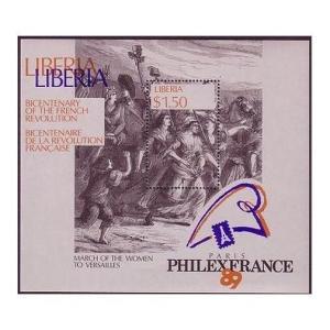 Liberia 1130,MNH.Michel 1455 Bl.121.French Revolution-200,1989.The Women's March