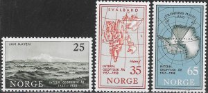 Norway 355-357 MNH -  International Geophysical Year