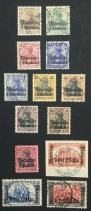 MOMEN: GERMAN COLONIES MOROCCO SC #33-44 1906-11 USED **CERT** LOT #60567