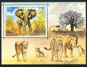 Umm Al Qiwain MNH S/S Lions & Elephants
