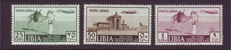 J19907 Jlstamps 1939  libya set mh #c36-8 airplane