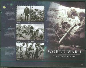 GRENADA  2015 WORLD WAR I THE STOKES MORTAR  SHEET MINT NH