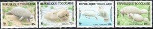 Togo 1241-44 - Mint-NH - African Manatees (WWF) (1984) (cv $10.70)