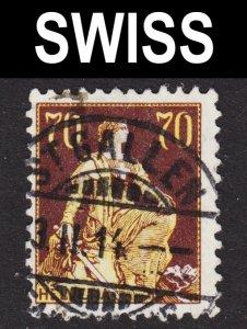 Switzerland Scott 141 F+ used with a splendid SON cds.