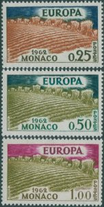 Monaco 1962 SG725-727 Europa MNH