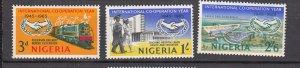 J27618 1965 nigeria set mnh #178-80 ICY emblem