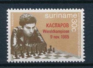 [95882] Surinam 1985 Chess OVP World Champion Kasparov  MNH