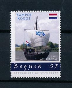 [78705] Bequia Grenadines Of St. Vincent 2011 Sail Ships Kamper Kogge  MNH