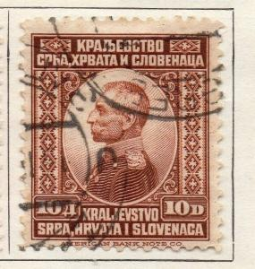 Jugoslavia 1921 Early Issue Fine Used 10d. 099483