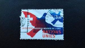 UN Geneva 2002 Definitive Issue - Admission of Switzerland in the UN Used