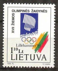 Lithuania 1994 Winter Olympics Games Lillehammer MNH