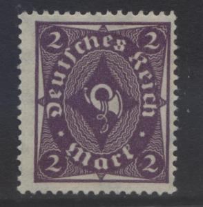 GERMANY. -Scott 185 - Definitives -1922 - MNGum - Blue Violet -Single 2m Stamp