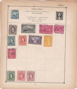 costa rica stamps page ref 17596