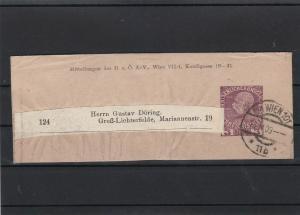 austria 1909  postal  stamps wrapper ref r10084