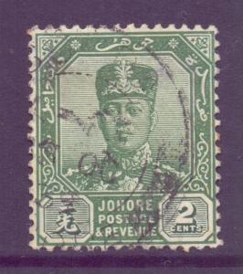 Malaya Johore Scott 103 - SG105, 1922 Sultan 2c Green used