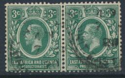 East Africa & Uganda Protectorate Usednpair- SG 45 SC#41 - see details