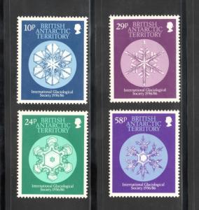 BRITISH ANTARCTIC TERRITORY Sc# 133 - 136 MNH FVF Set-4 Snowflake