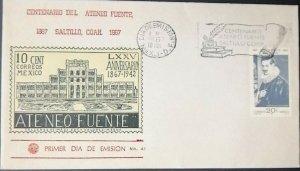 RO) 1967 MEXICO,  ARTEMIO DEL VALLE, ARIZPE, ATENEO FUENTE A COLLAGE AT SALTILLO