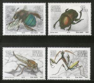 South West Africa 1987 Insects Beetles Wildlife Fauna Sc 582-85 MNH # 4289