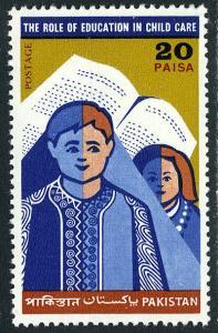 Pakistan 297, MNH. Intl. Children's Day. Boy, Girl, Open book, 1970