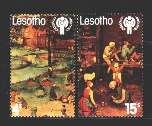 Lesotho. 1979. 278-80 from the series. Unisef, painting, paintings. MNH.