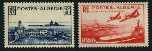 Algeria B55-B56,MNH.Michel 280-281. Battleship Richelieu,Arromanches.1948.