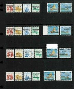 Micronesia (FDM) 33, 36, 37, 38 & C47-48 State (4) Precancels. 75.00 net