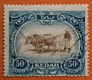 Malaya 1921-32 Kedah 40c MSCA Used SG#35bw M2984