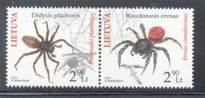 Lithuania Sc 971 2012 Red Book Spider stamps mint NH