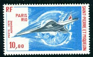 St Pierre & Miquelon 56, MNH, 1976 Concorde Flight to Rio. x18727