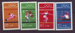 J24210 JLstamps 1972 germany set mnh #b490a-d sports