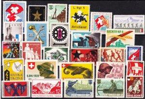 Swiss Military Stamps, Unused, 27 designs (-001)