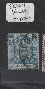 NORTH BORNEO (P0809B)  1 C LION, ARMS P & R SG 44 KUDAT  VFU