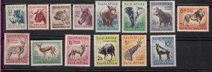 J28459, 1954 south africa mnh/mh set #200-13 wild animals