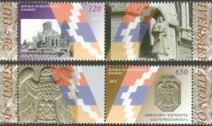 KARABAKH ARMENIA 2011 SET OF 2 SHUSHI LIBERATION MNH WITH LABELS R2021222