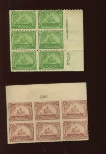 RB20p & RB21 Proprietary Plate Blocks  of 6 Stamps  (RB20 PB A2)
