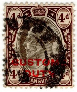 (I.B) Transvaal Revenue : Customs Duty 4d
