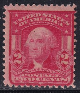 US STAMP #319 1906-08 2¢ Washington MH/OG STAMP
