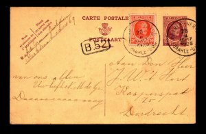 Belgium 1925 Uprated Postal Card Used - L11200