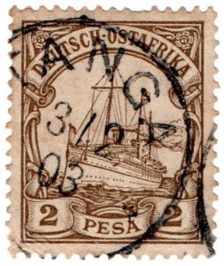 (I.B) Germany Colonial Postal : East Africa 2P (Tanga)
