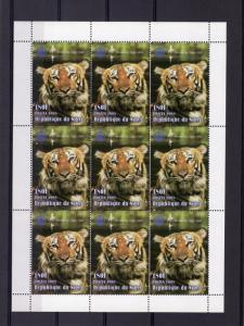 Niger 1998 Rotary Yeat of the Tiger fluorescent white Paper Perforated mnh.vf