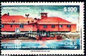 Arturo Prat Naval Base, Greenwich Isld, Antarctic 40th Anniv., Chile SC#743 used