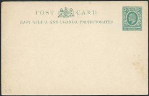 BR EAST AFRICA EVII 3c postcard fine unused................................56918