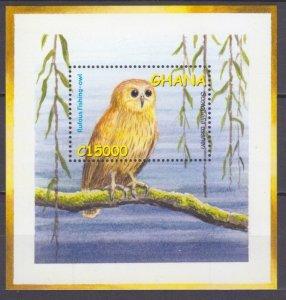 2002 Ghana 3478/B442 Birds / Owl 5,50 €